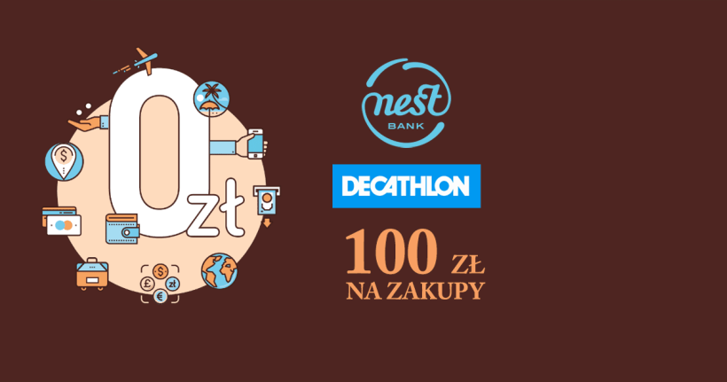 Bon na 100 zł do Decathlonu od Nest Banku